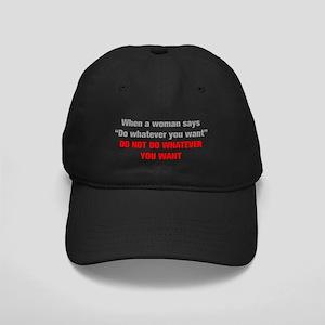 when-a-woman-akz-gray-red Baseball Hat
