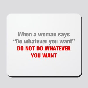 when-a-woman-akz-gray-red Mousepad