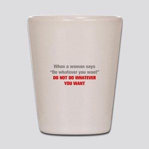 when-a-woman-akz-gray-red Shot Glass