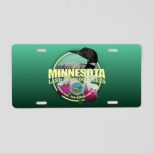 Minnesota State Bird & Flower Aluminum License Pla