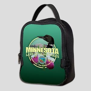 Minnesota State Bird & Flower Neoprene Lunch Bag