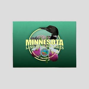 Minnesota State Bird & Flower 5'x7'Area Rug
