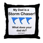 Baby TwisterChasers Dad Blue Tornado Throw Pillow