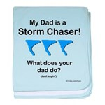 Baby TwisterChasers Dad Blue Tornado baby blanket