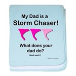 Baby TwisterChasers Pink Tornado Dad baby blanket