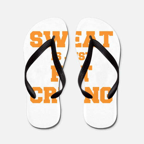 sweat-is-just-fat-crying-fresh-orange Flip Flops
