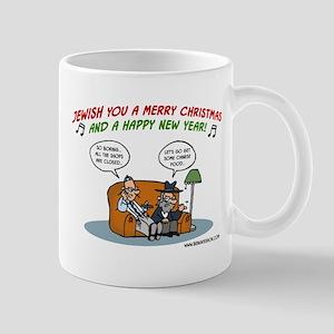 Jewish You A Merry Christmas Mug Mugs