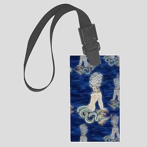 Little Rococo mermaid Large Luggage Tag