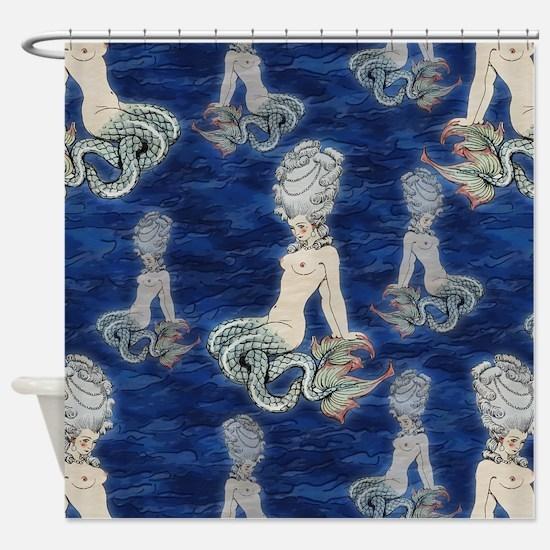 Little Rococo mermaid Shower Curtain
