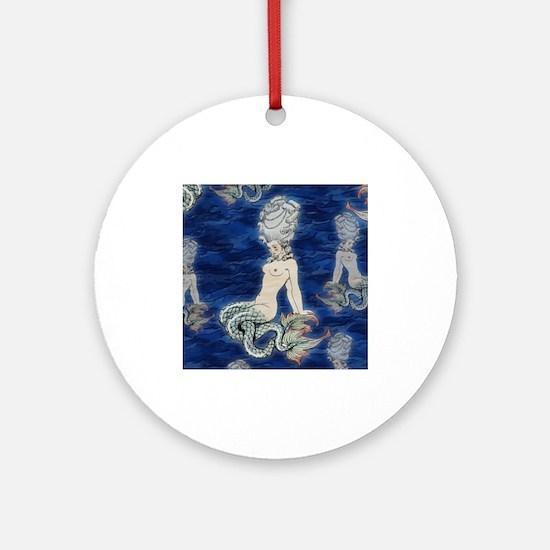 Little Rococo mermaid Ornament (Round)