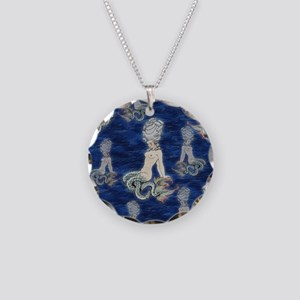 Little Rococo mermaid Necklace Circle Charm