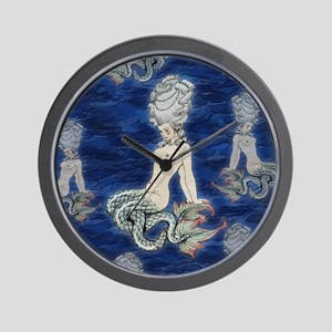 Little Rococo mermaid Wall Clock