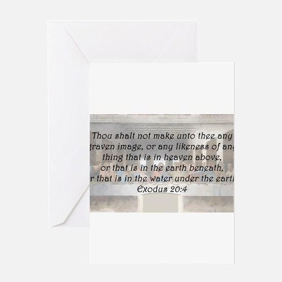 Exodus 20:4 Greeting Card