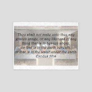 Exodus 20:4 5'x7'Area Rug