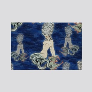 Little Rococo mermaid Rectangle Magnet