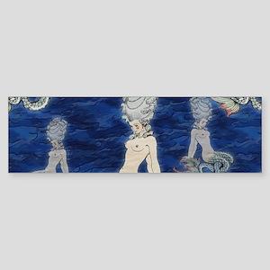 Little Rococo mermaid Sticker (Bumper)