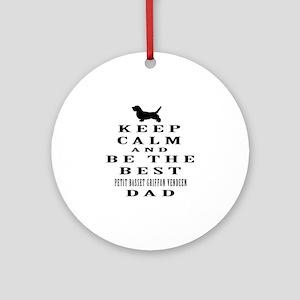 Petit Basset Griffon Vendeen Dad Designs Ornament