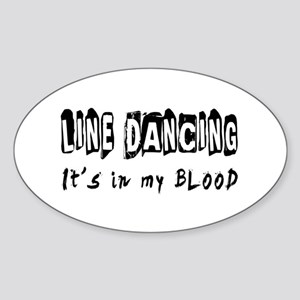 Line Dancing dance Designs Sticker (Oval)