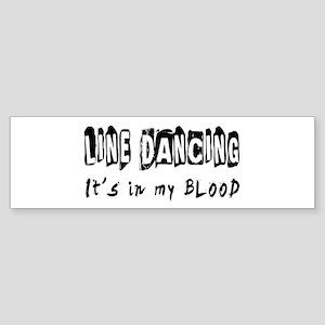 Line Dancing dance Designs Sticker (Bumper)