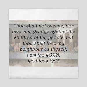 Leviticus 19:18 Queen Duvet