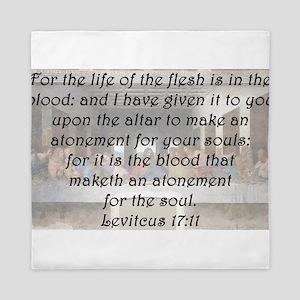 Leviticus 17:11 Queen Duvet