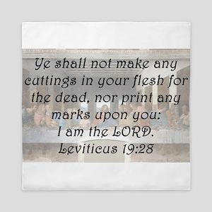 Leviticus 19:28 Queen Duvet