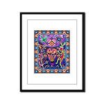 Huichol Dreamtime Framed Panel Print