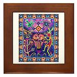 Huichol Dreamtime Framed Tile