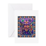 Huichol Dreamtime Greeting Card