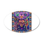 Huichol Dreamtime 20x12 Oval Wall Decal