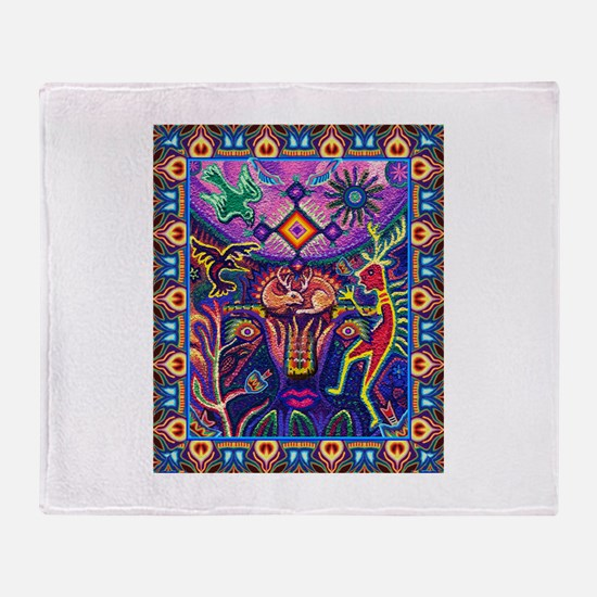 Huichol Dreamtime Throw Blanket