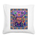 Huichol Dreamtime Square Canvas Pillow