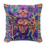 Huichol Dreamtime Woven Throw Pillow