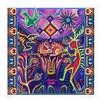 Huichol Dreamtime Tile Coaster