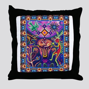 Huichol Dreamtime Throw Pillow