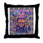 Huichol Dreamtime Throw Pillow