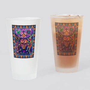 Huichol Dreamtime Drinking Glass