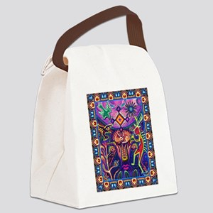 Huichol Dreamtime Canvas Lunch Bag