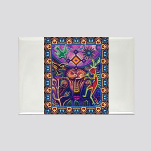 Huichol Dreamtime Rectangle Magnet