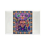 Huichol Dreamtime Rectangle Magnet (10 pack)