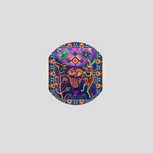 Huichol Dreamtime Mini Button