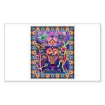 Huichol Dreamtime Sticker (Rectangle)