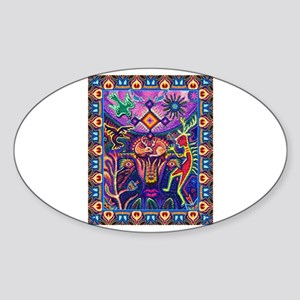 Huichol Dreamtime Sticker (Oval)
