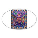 Huichol Dreamtime Sticker (Oval 10 pk)