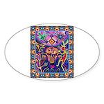 Huichol Dreamtime Sticker (Oval 50 pk)