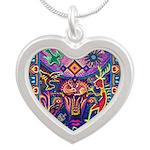 Huichol Dreamtime Silver Heart Necklace