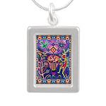 Huichol Dreamtime Silver Portrait Necklace