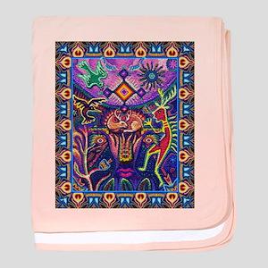 Huichol Dreamtime baby blanket