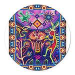 Huichol Dreamtime Round Car Magnet