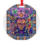 Huichol Dreamtime Round Ornament